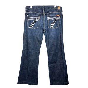 7 For All Mankind Dark Wash Dojo Jeans size 31